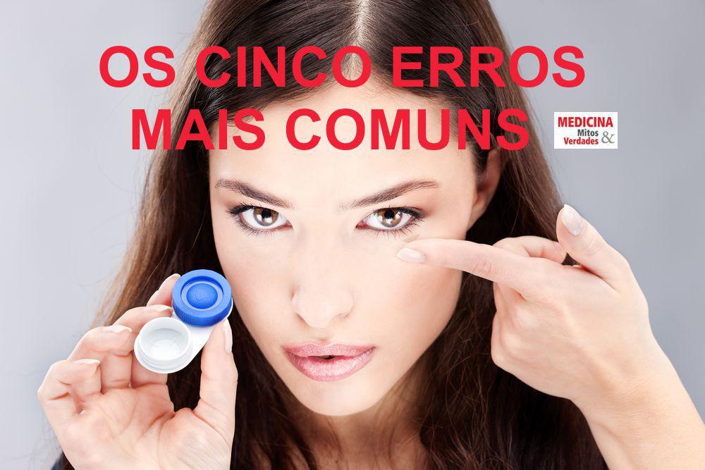 O mau uso das lentes de contato