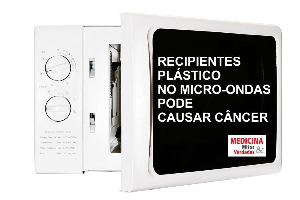 Recipientes plásticos no micro-ondas pode causar câncer