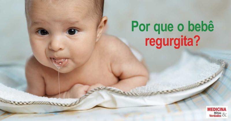 Por que o bebê regurgita?