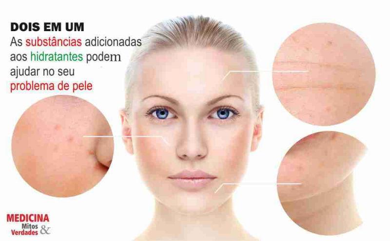 Substâncias que hidratam a pele