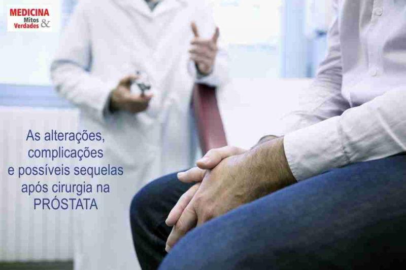 Complicações após cirurgia da próstata
