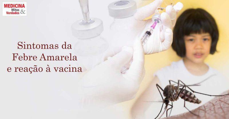 Sintomas da febre amarela e reações à vacina
