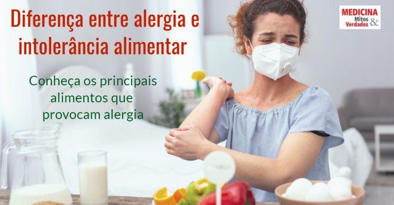Diferença entre alergia e intolerância alimentar: alimentos que causam alergia