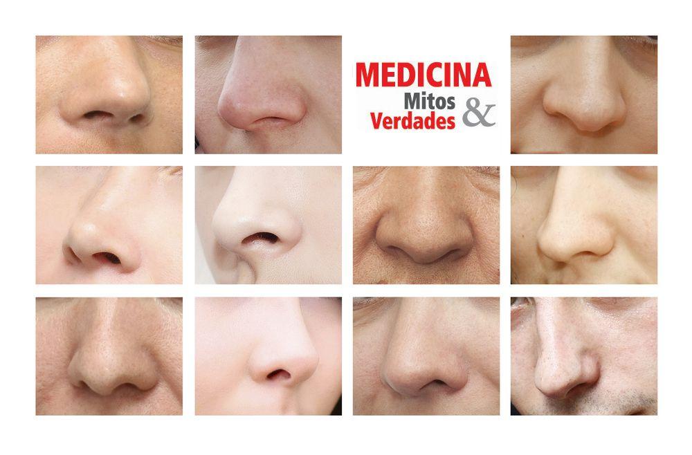 O formato do nariz e desvio de septo