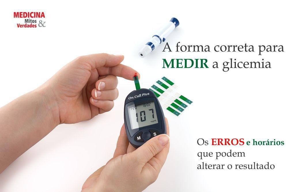 Erros e acertos ao usar o medidor de glicose